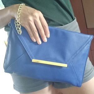 Forever 21 Blue Clutch